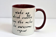 Load image into Gallery viewer, Wake Up Be Awesome Running Mug - Track and Fit Club