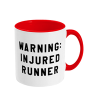 Load image into Gallery viewer, Warning Injured Runner Mug - Track and Fit Club
