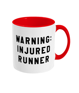 Warning Injured Runner Mug - Track and Fit Club