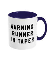Load image into Gallery viewer, Warning: Runner in Taper Mug - Track and Fit Club