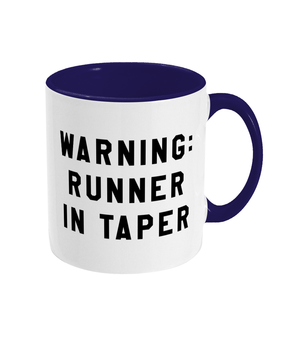 Warning: Runner in Taper Mug - Track and Fit Club