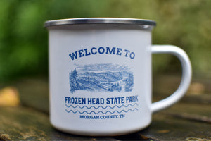 Welcome to Frozen Head State Park Enamel Mug