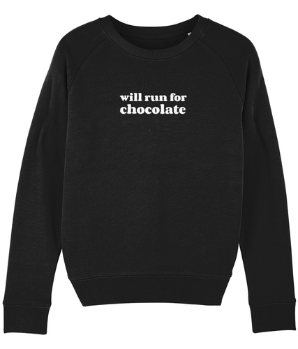 Will Run for Chocolate Sweater - Track and Fit Club