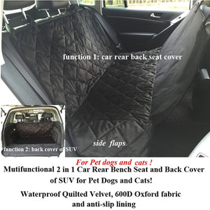 Open image in slideshow, Pet Dog Car Rear Bench Back Seat Cover