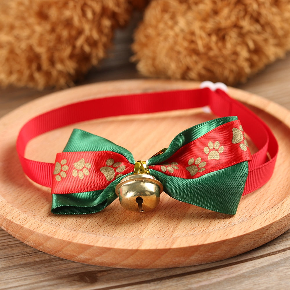 Adjustable Pet Dog Cat Christmas  Bow Ties Necktie