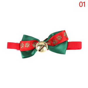 Open image in slideshow, Adjustable Pet Dog Cat Christmas  Bow Ties Necktie
