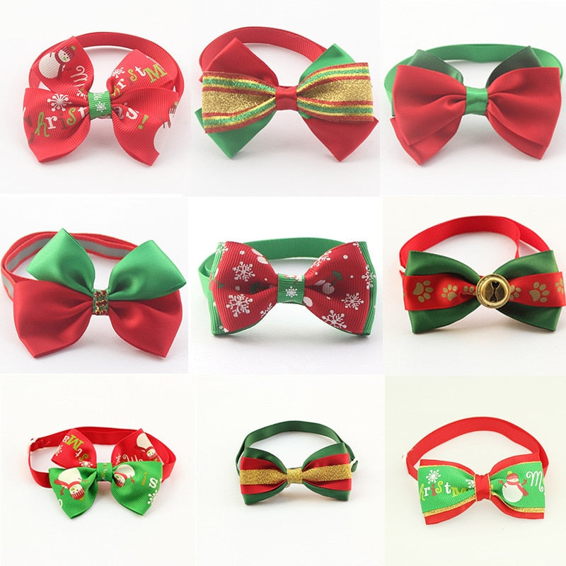 Christmas Pet Collar Accessory Dogs