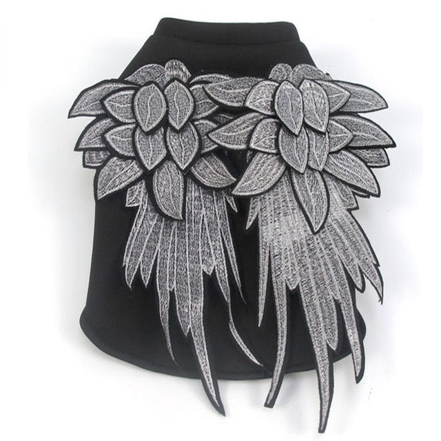 Fashion Embroidery Wings Pet Clothes
