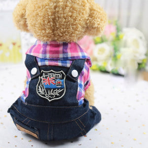 Open image in slideshow, Puppy Cat Costumes With Jeans Onesies Jacket