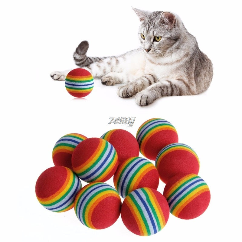 Colorful Cat Toy Ball Interactive