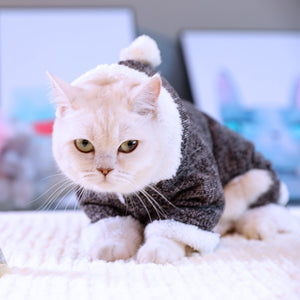 Christmas Sweater Jumpsuit Kitty Clothes