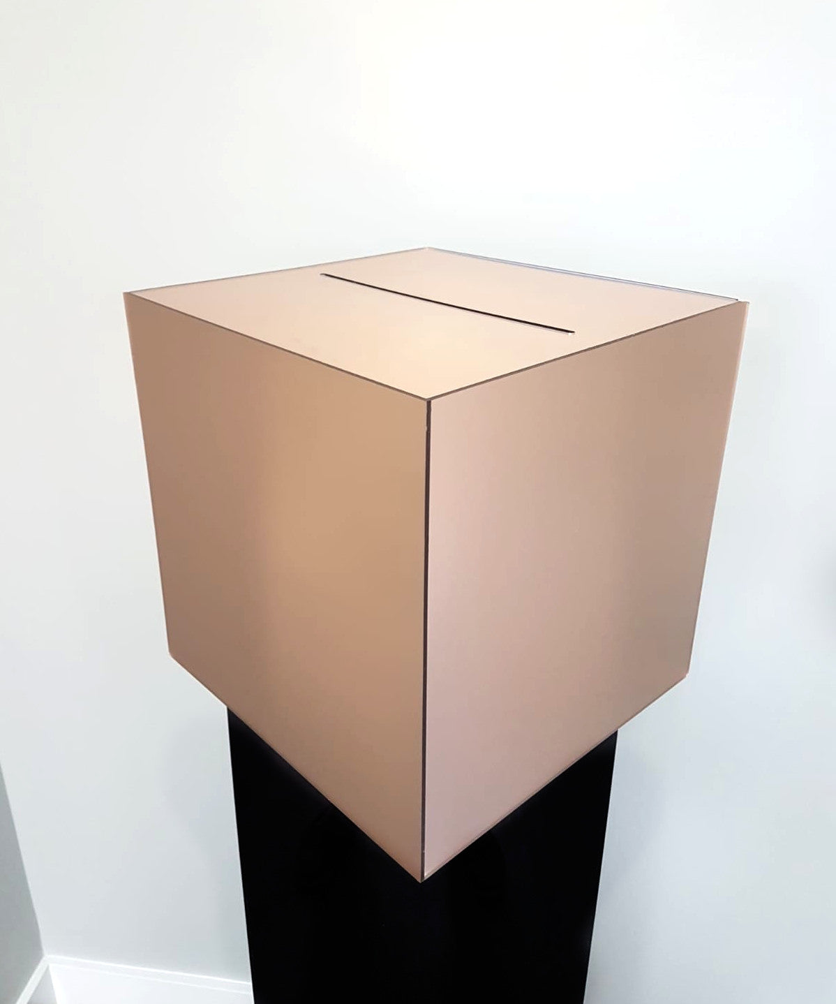Acrylic Chrome Rose Gold Wedding Card Box