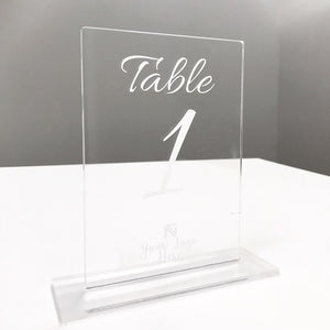 "Table Numbers in 1/4"" Acrylic"