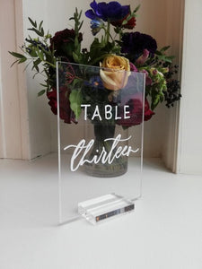 Table Numbers with Removable Bases