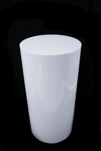 Over-Sized Round White Plinth