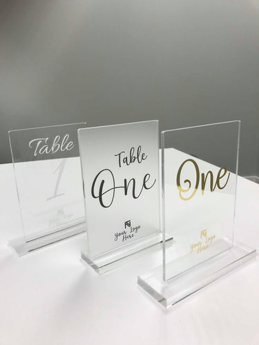 Custom Rectangle Table Numbers