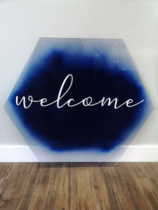 Welcome Signs - Hexagon