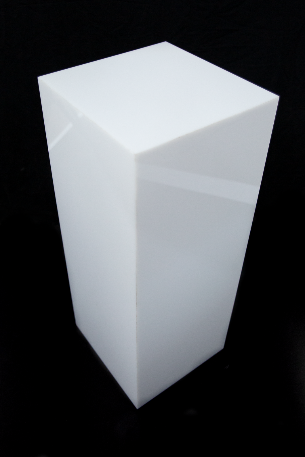 Used Square White Plinth - 12