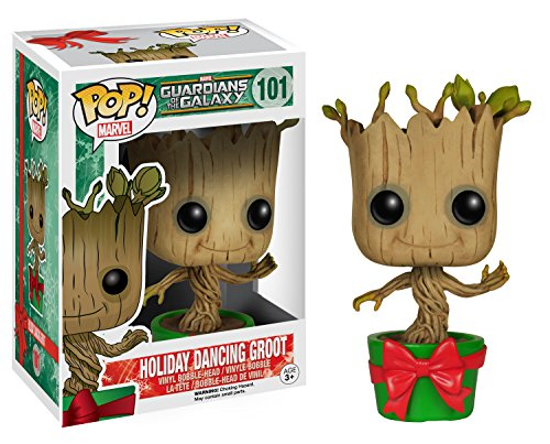 Funko POP Marvel: GOTG - Holiday Dancing Groot Action Figure
