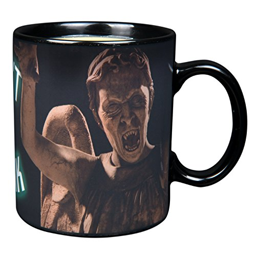 Doctor Who Heat Reveal Ceramic Coffee Mug - Don't Blink Weeping Angel Design Activates with Heat