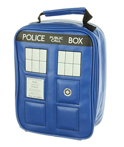 bioWorld Doctor Who Police Tardis Navy Blue Insulated Lunchbox Cooler Bag