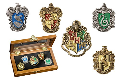The Noble Collection Harry Potter HOGWARTS House Crest Pins