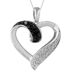 Silver Hammered Shape Pendant with Colored and White Diamond Accent