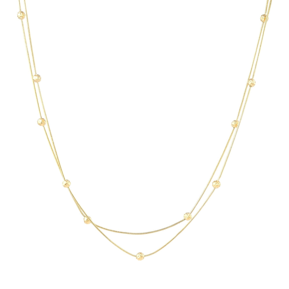Brass Necklace with Gold Plating