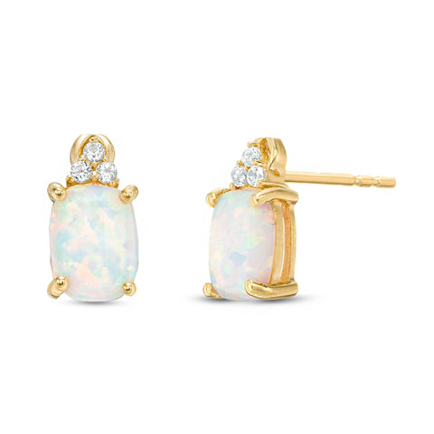 Image of Gemstone Earrings in Gold