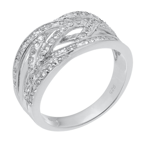 Image of Diamond Ring in Sterling Silver