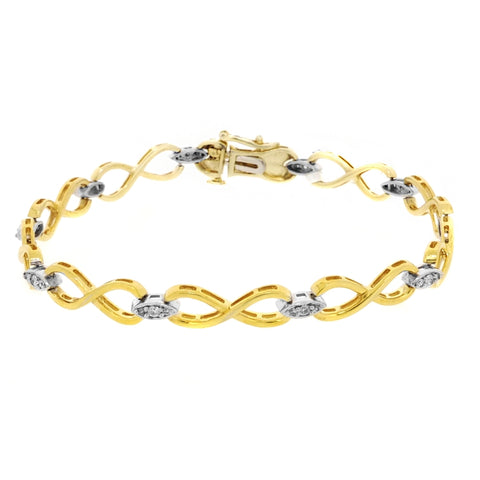 .25 cttw Diamond Bracelet in 10K Gold