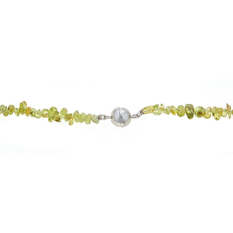 Image of Sterling Silver Gemstone Necklace with Magnetic Lock