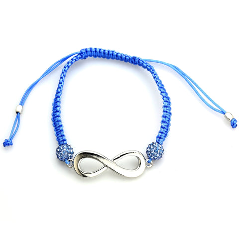 Image of Ladies Shamballa Bracelet with Crystal & Infinity Symbol