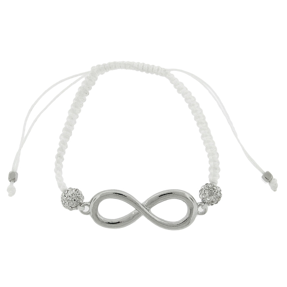 Ladies Shamballa Bracelet with Crystal & Infinity Symbol