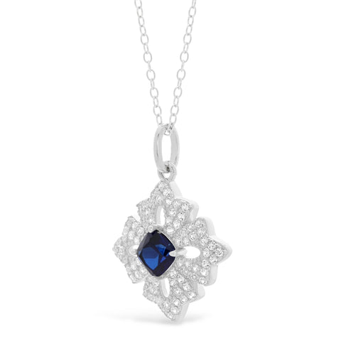 Gemstone Pendant with White Topaz Accent