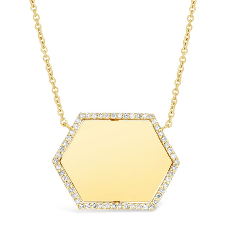 Image of Diamond Accent Pendant in 2 Micron Gold Plated Silver