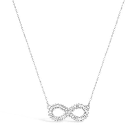 Infinity Diamond Pendant in 10K White Gold