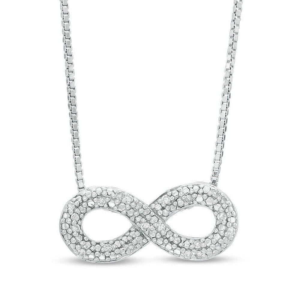 Diamond Infinity Pendant in Silver