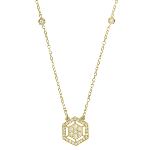 Image of Diamond Pendant in 14K Gold