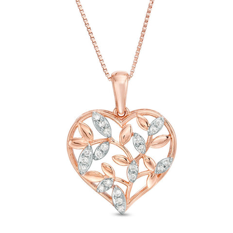 Diamond Pendant in 14K Rose Gold