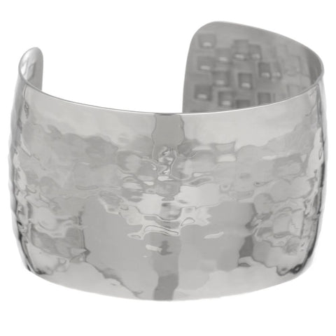 Image of Stainless Steel Plain Hammer Cuff
