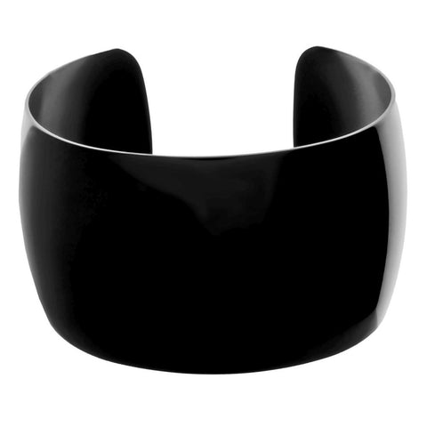 Image of Stainless Steel Cuff Bangle with Black Plating
