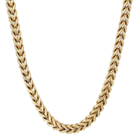 Stainless Steel Foxtail Chain Necklace