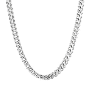 Stainless Steel Foxtail Chain Necklace, 30""