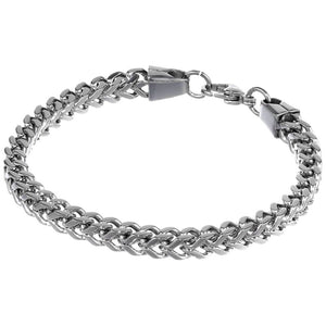 Stainless Steel Foxtail Chain Necklace, 30