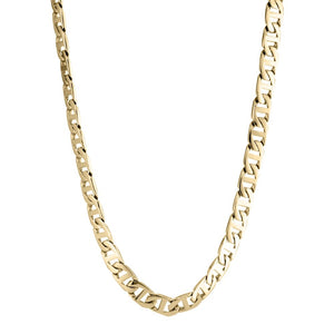 Stainless Steel Mariner Link Chain Necklace, 24