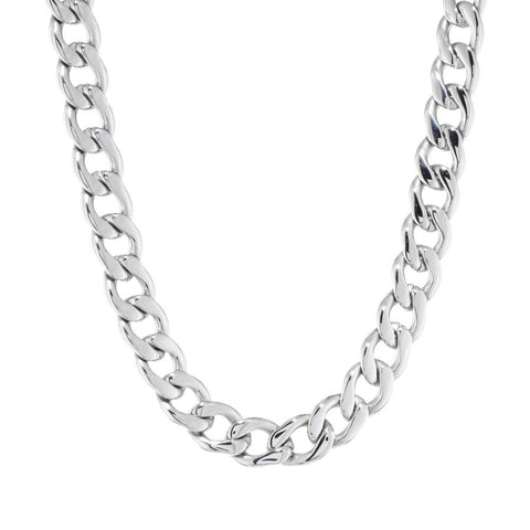 Stainless Steel Curb Necklace
