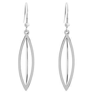 Drop Scale Earrings in Stainless Steel
