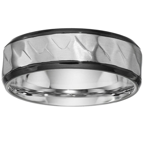 Hammered Stainless Steel Ring