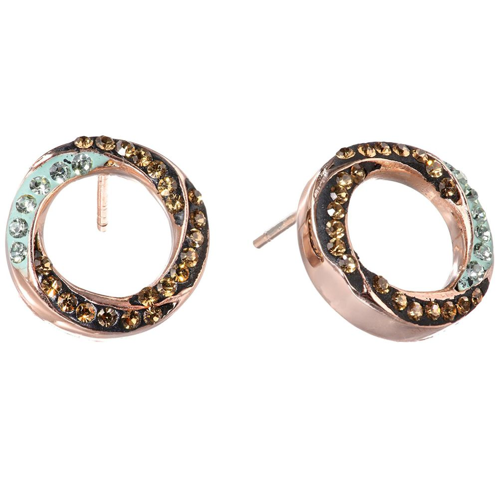Stainless Steel Circle Earrings with Swarovski Crystal